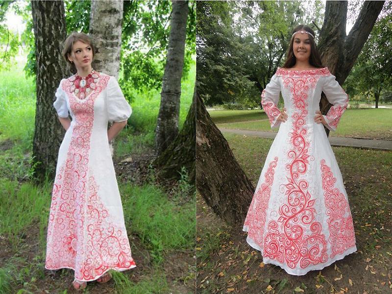 Вышивка в русском народном стиле
