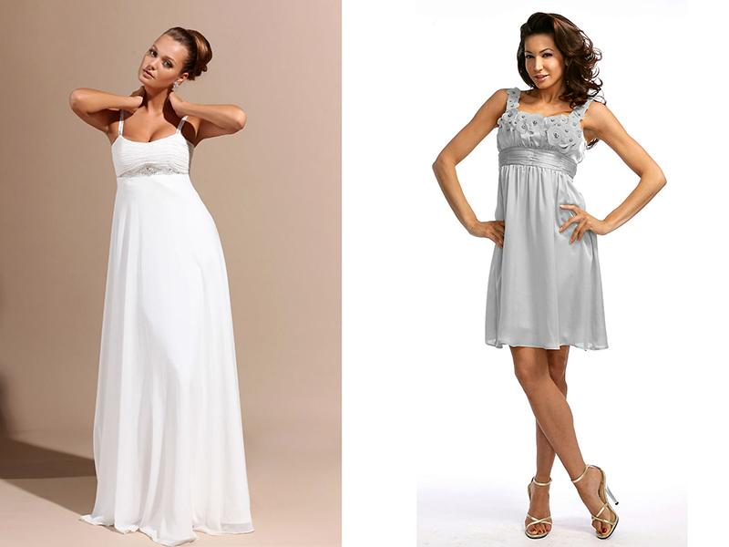 Платья ампир летние