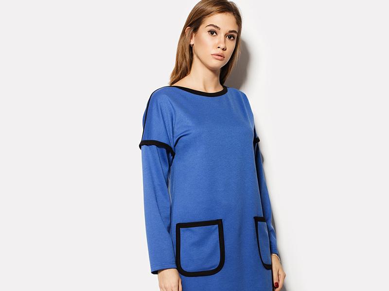 Платье с карманами сбоку