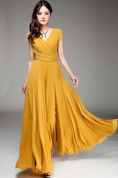 Платья длинные летние из шелка вечерние