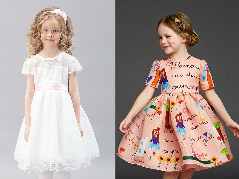 Платье из ситца детские
