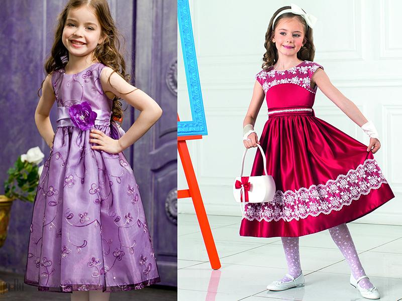 Фото детские платья с атласа
