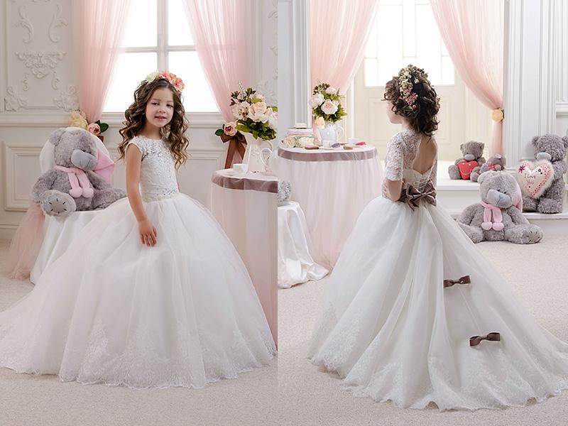 Детское платье со шлейфом купить