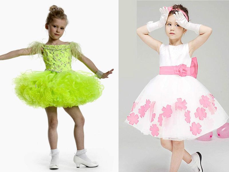 Платье для девочки из атласа своими руками 8