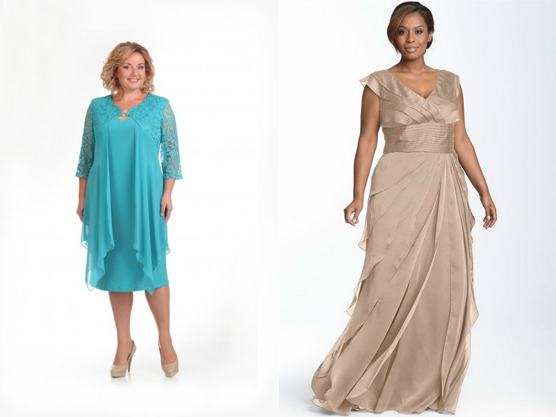 платья нарядные для полных девушек фото