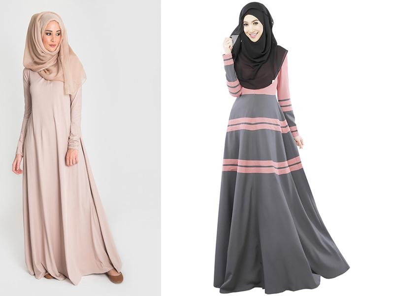 Фасон длинных мусульманских платьев