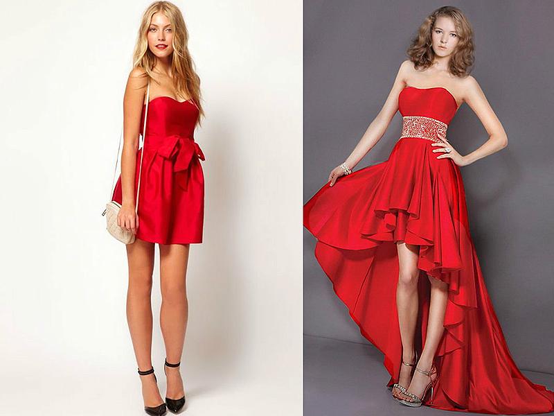 Декор для красного платья