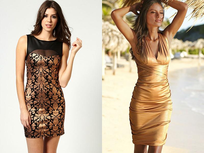 Платье Золотого Цвета С Доставкой