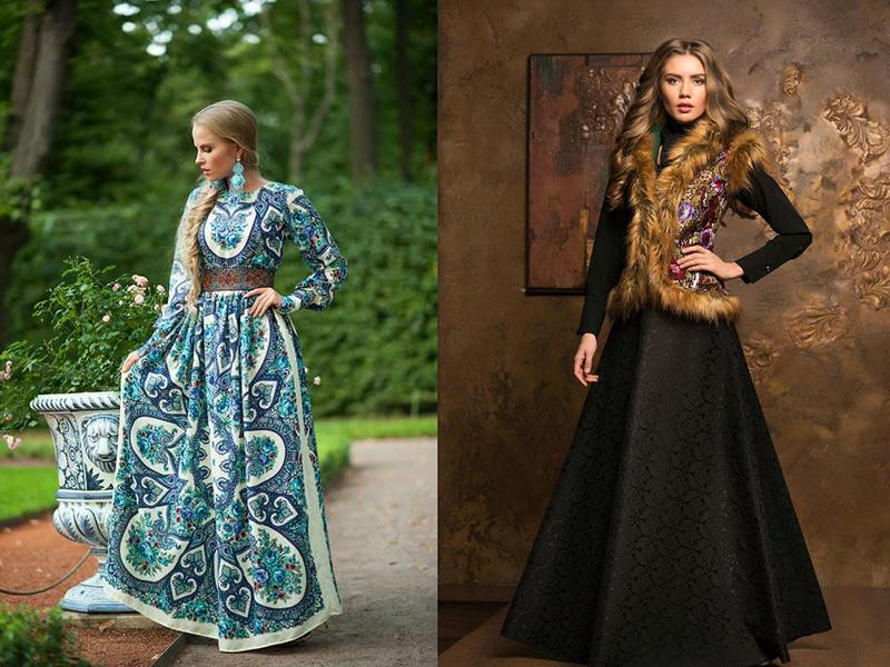 Платья на руси история