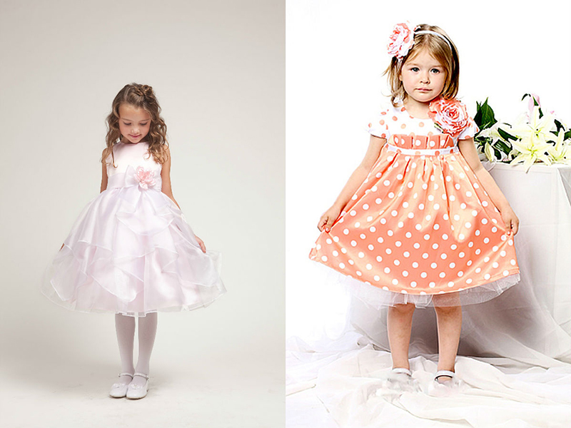 Длинные платья и юбки для девочек