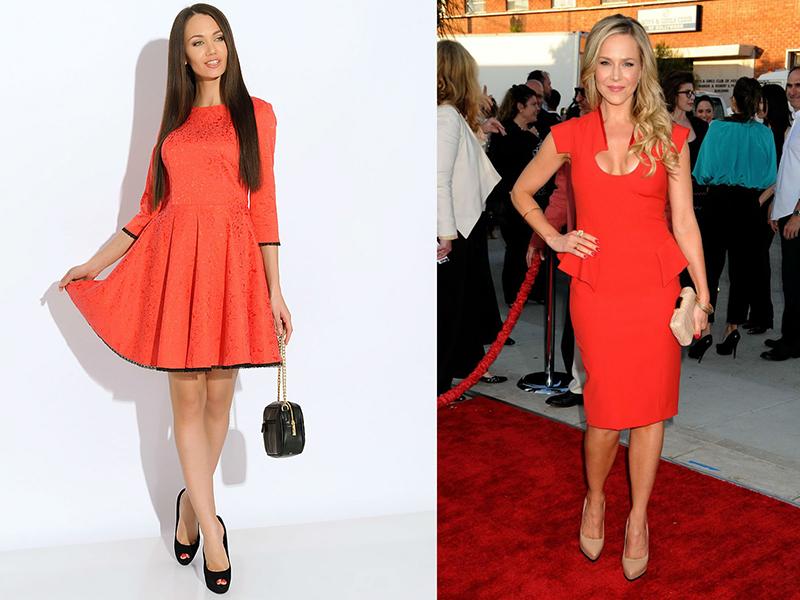 Под красное платье какие туфли одеть