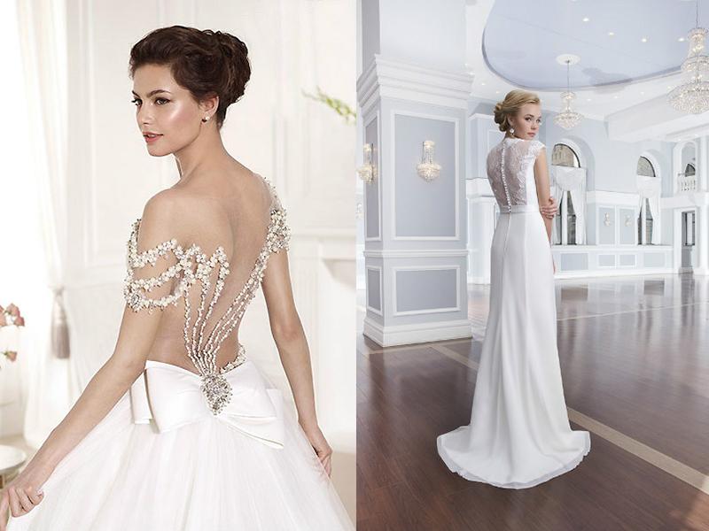 Свадебные платья с открытой спиной для самых романтичных невест