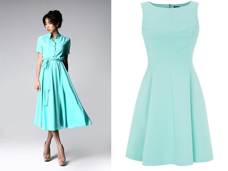 Купить Платье Цвет Тиффани