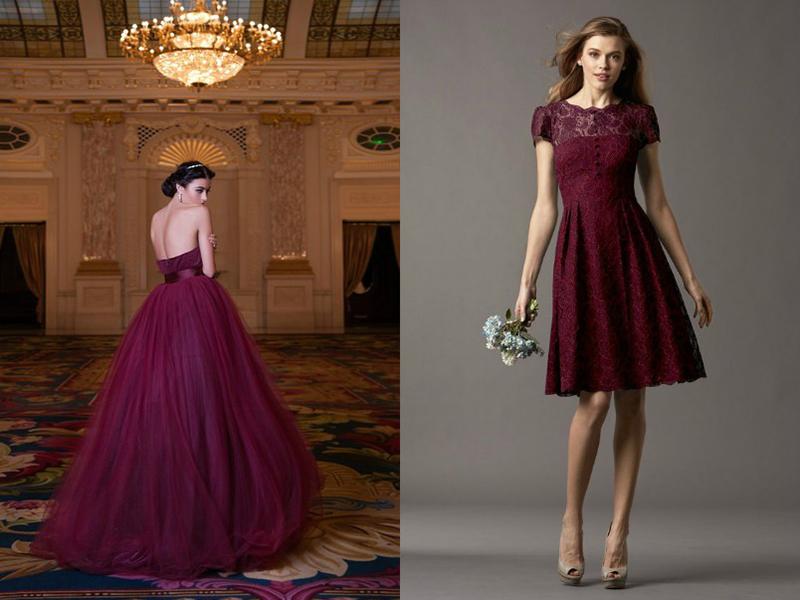Платье Винного Цвета Купить