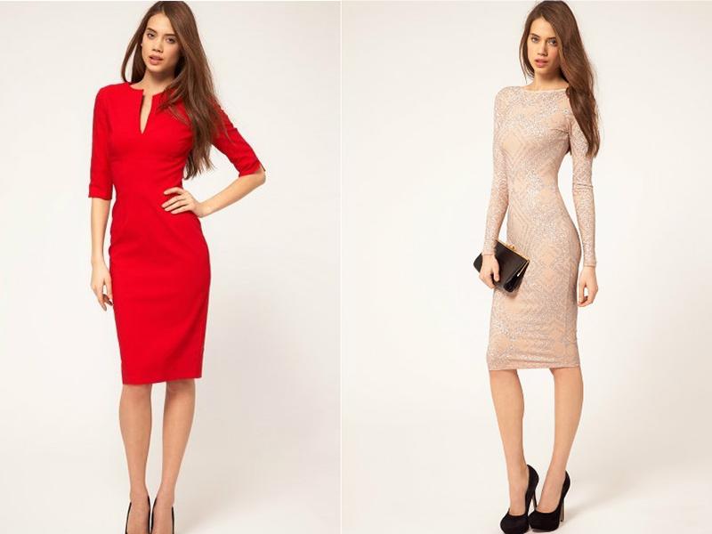 Правильное облегающее платье