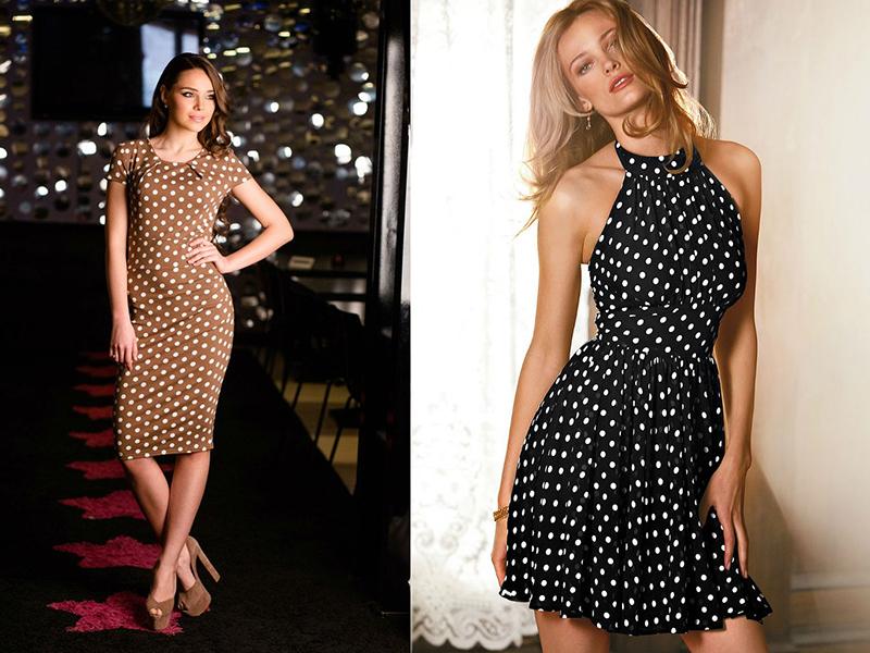 Как сшить платье из ткани в горох