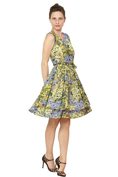Фасоны летних платьев из крепдешина