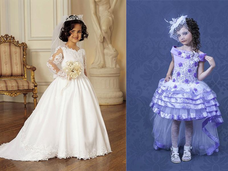 Как детское платье сделать пышными 361