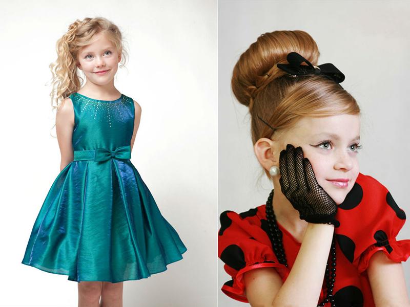 Прически и платья в стиле ретро