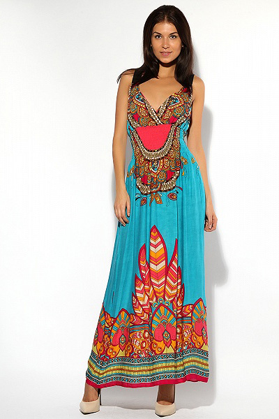 Летнее платье в восточном стиле