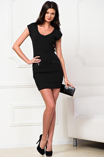 сочная в черном платье фото