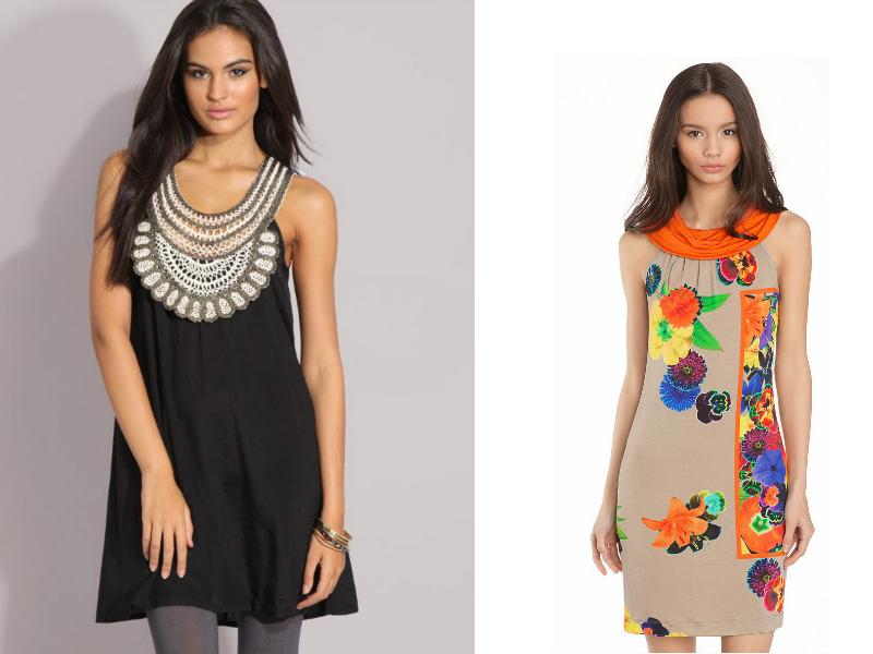 Летние платья с вязаной кокеткой