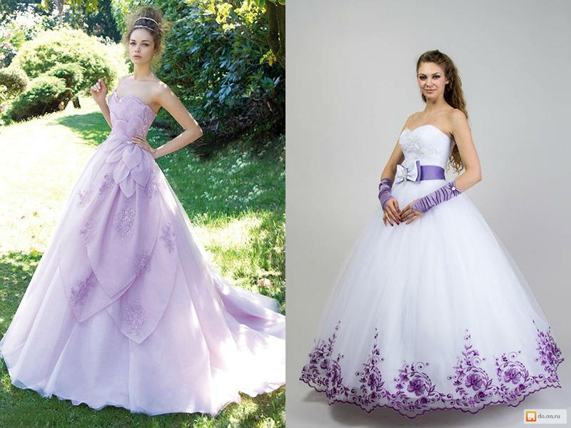 Сиреневый оттенок платья