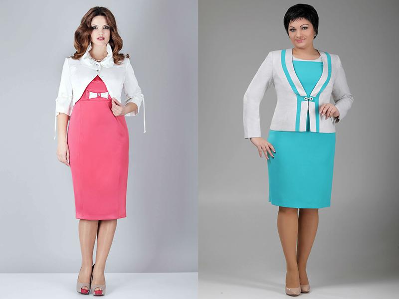 Голубые деловые платья