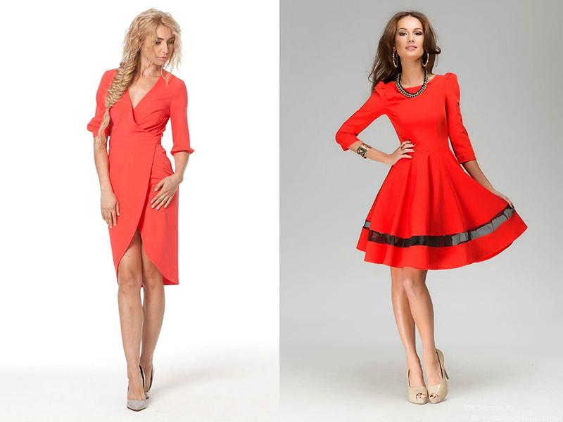 Платье из красного вина