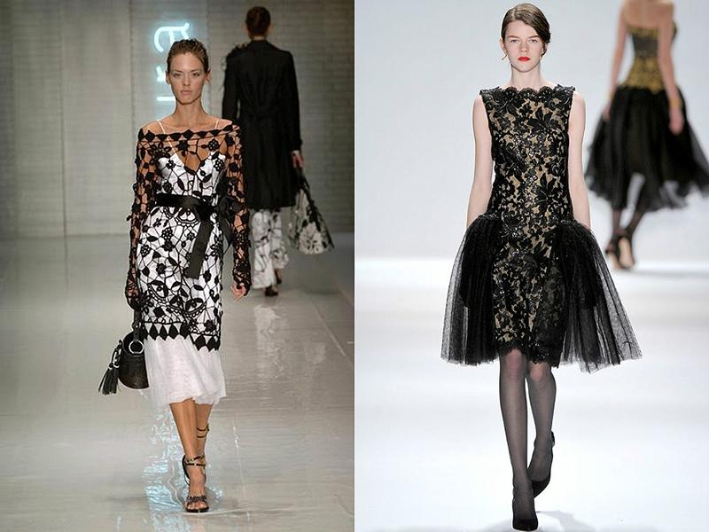 Модели платья вязаных от кутюр