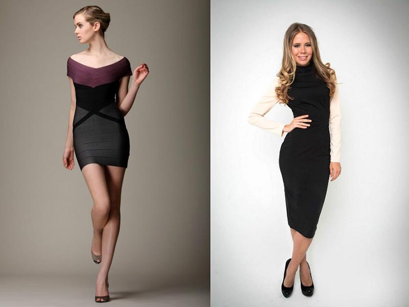 платье выше трусиков
