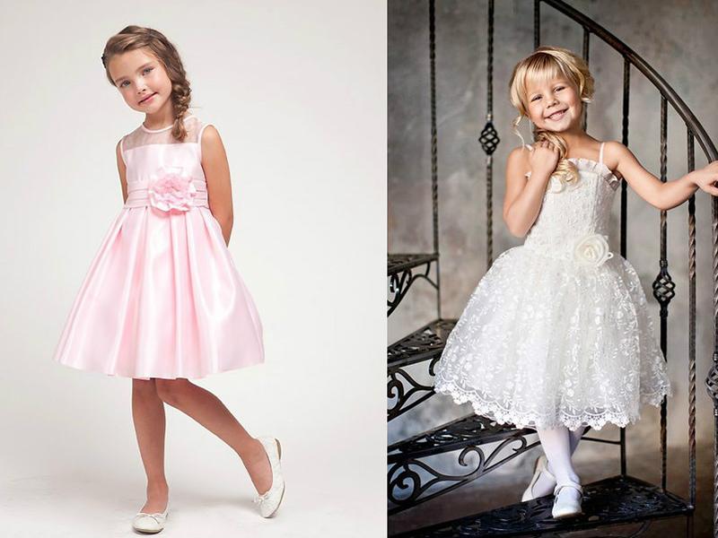 Платья для девочек на бок