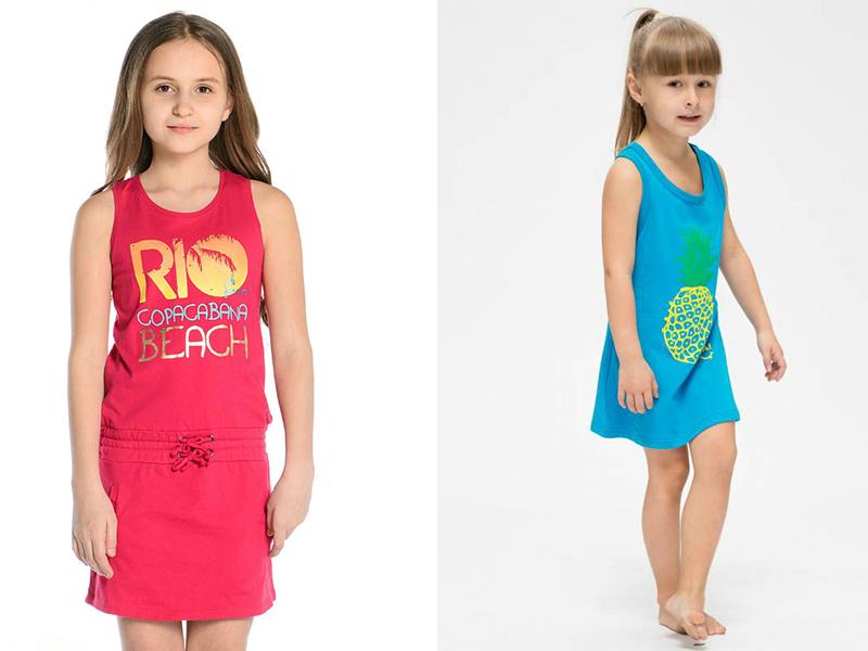 1cf7c3da47e7 Платье-майка. Рассматривая фасоны детских летних платьев, нельзя не  упомянуть об этом фасоне платья. Его отличием от сарафана является прямой  силуэт, ...