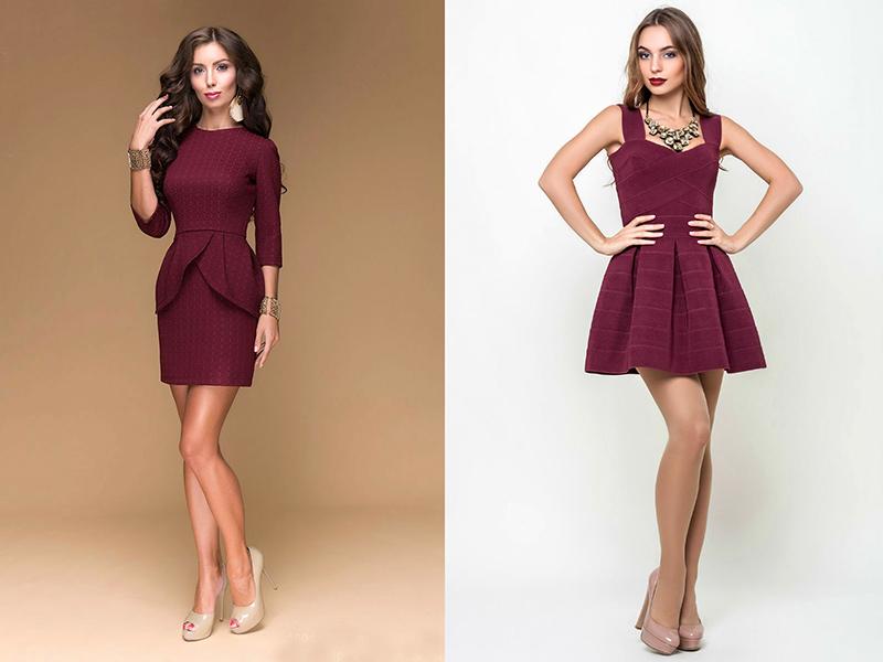 Цвет платья марсала