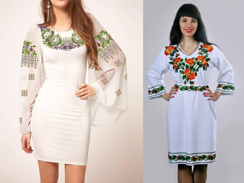Виды вышивки на платье