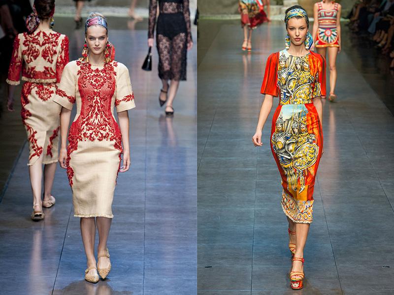 Платья летние в русском стиле