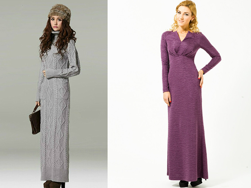 Домашние платья с разрезом