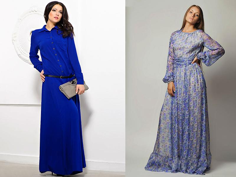 Длинные платья с длинными рукавами шить