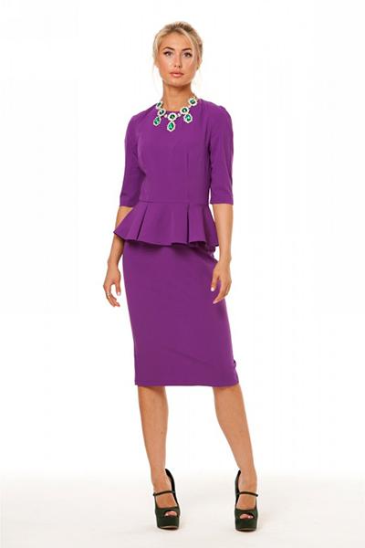 Бижутерия для фиолетового платья