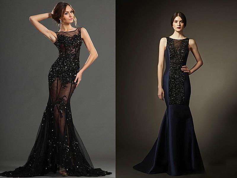 Платье из тафты и гипюра