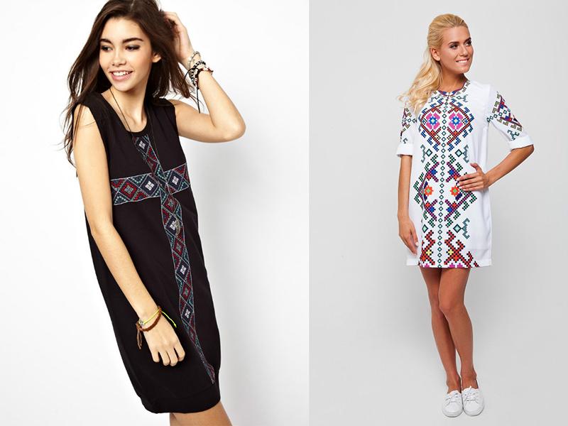 Платье с вышивкой – необычный декор в современном образе