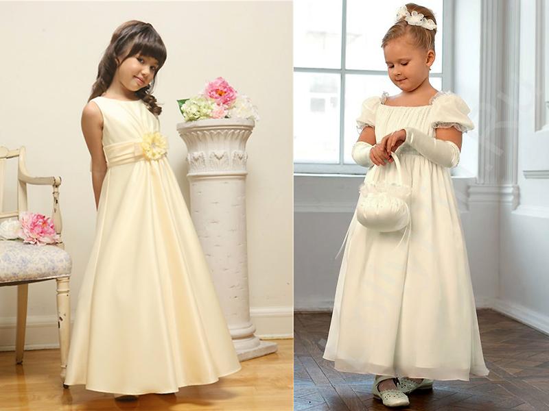 Платье на девочку в стиле ампир