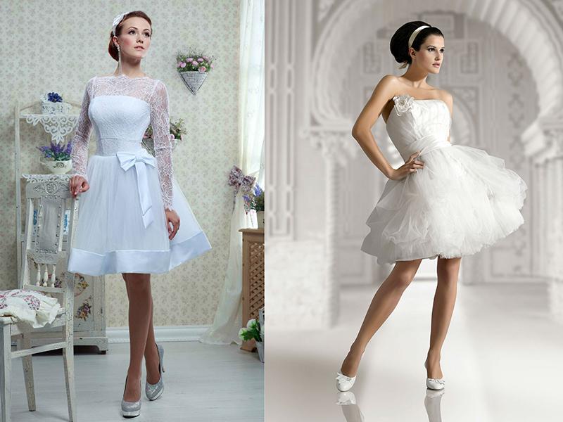 Купить Короткие Свадебные Платья
