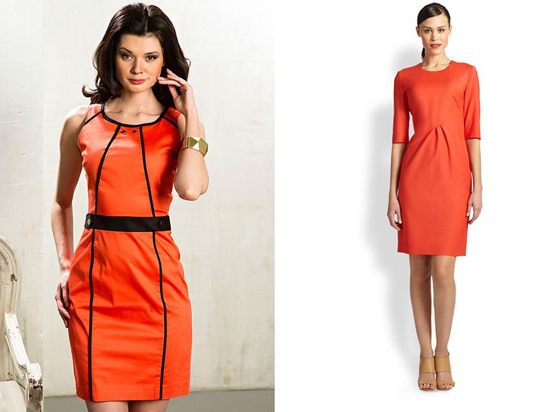 Оранжевое платья что можно под не одеть