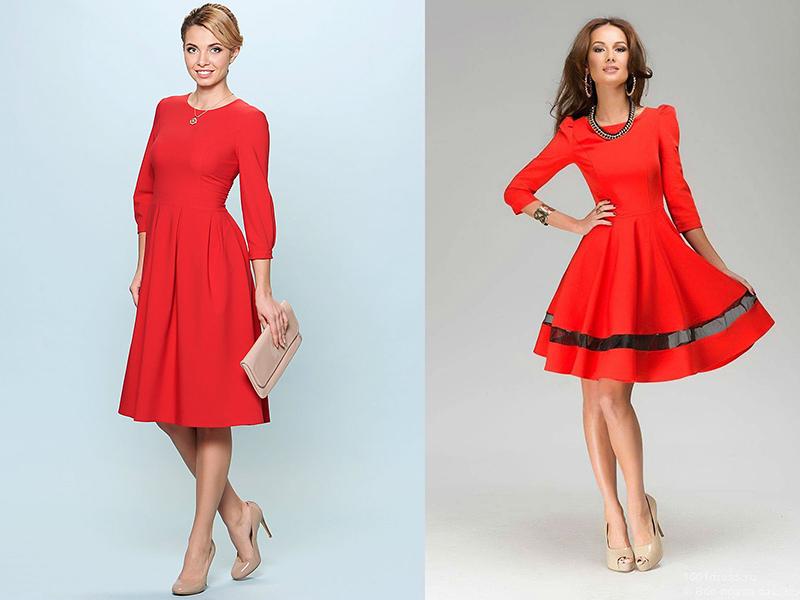 Обувь с красным вечерним платьем