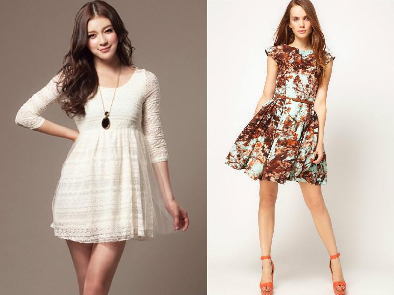 Платья для девушек без талии
