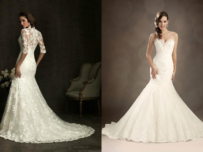 Свадебное платье-русалка – женственный и соблазнительный наряд