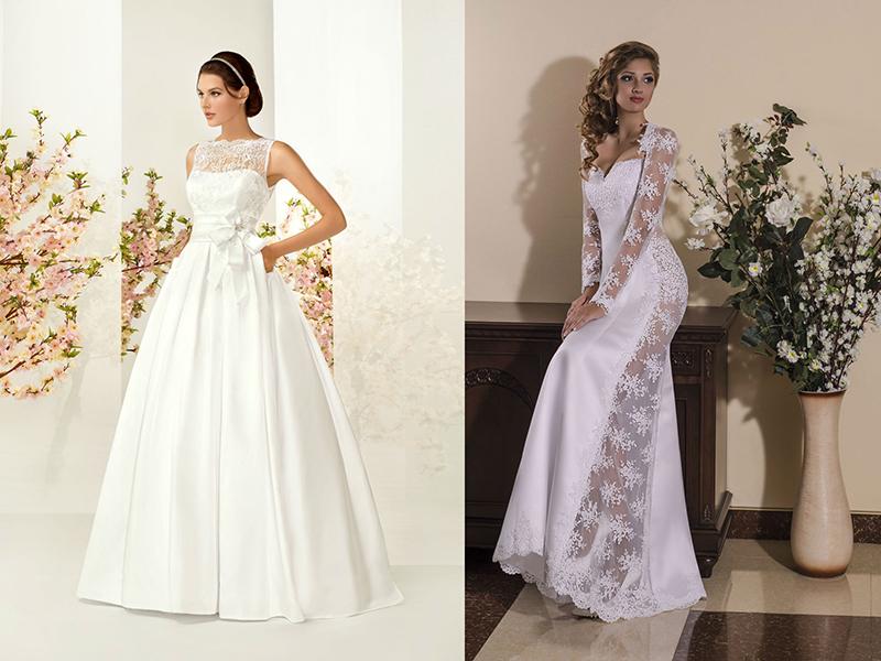 Платье из атласа и кружева сшить