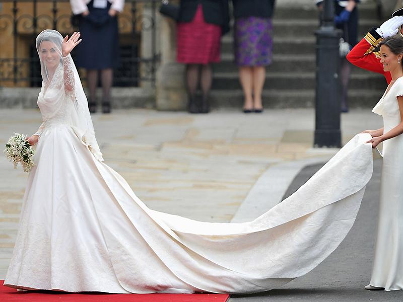 Длина свадебного платья со шлейфом
