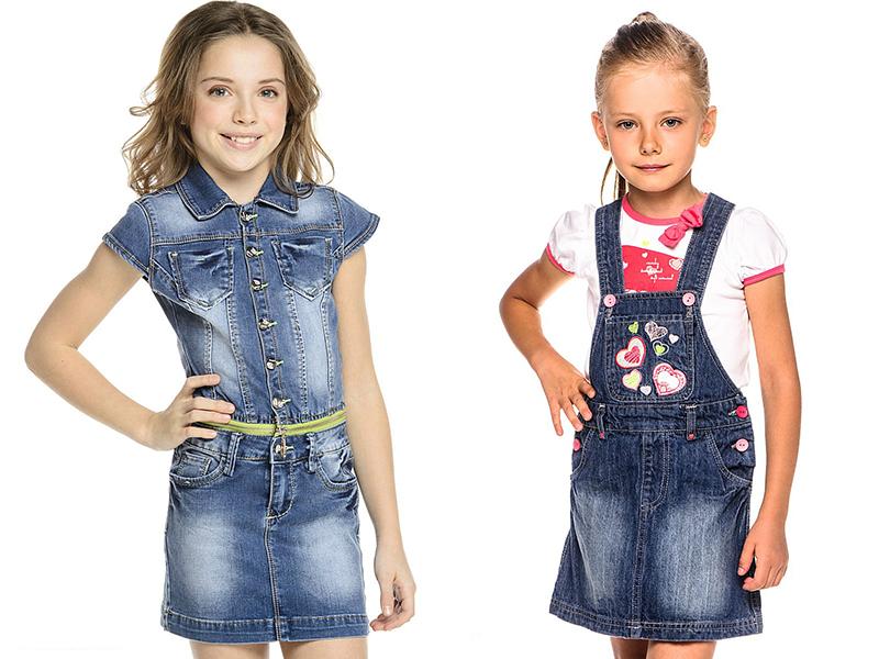 Платье для дочки из джинсов
